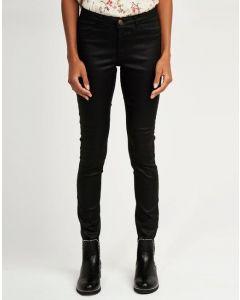Pantalón negro efecto brillante